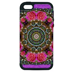 Roses In A Color Cascade Of Freedom And Peace Apple Iphone 5 Hardshell Case (pc+silicone) by pepitasart