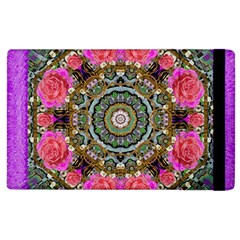Roses In A Color Cascade Of Freedom And Peace Apple Ipad 3/4 Flip Case by pepitasart