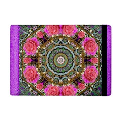 Roses In A Color Cascade Of Freedom And Peace Apple Ipad Mini Flip Case by pepitasart