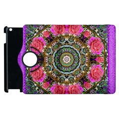 Roses In A Color Cascade Of Freedom And Peace Apple Ipad 3/4 Flip 360 Case by pepitasart
