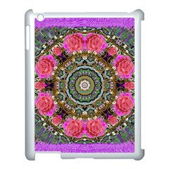 Roses In A Color Cascade Of Freedom And Peace Apple Ipad 3/4 Case (white) by pepitasart