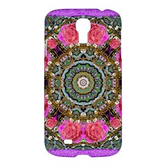 Roses In A Color Cascade Of Freedom And Peace Samsung Galaxy S4 I9500/i9505 Hardshell Case by pepitasart