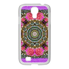 Roses In A Color Cascade Of Freedom And Peace Samsung Galaxy S4 I9500/ I9505 Case (white) by pepitasart