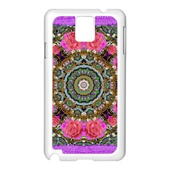 Roses In A Color Cascade Of Freedom And Peace Samsung Galaxy Note 3 N9005 Case (white) by pepitasart
