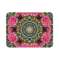 Roses In A Color Cascade Of Freedom And Peace Double Sided Flano Blanket (mini)  by pepitasart