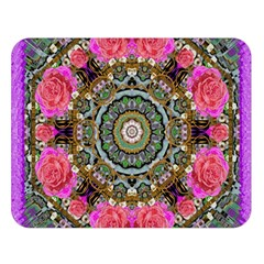 Roses In A Color Cascade Of Freedom And Peace Double Sided Flano Blanket (large)  by pepitasart
