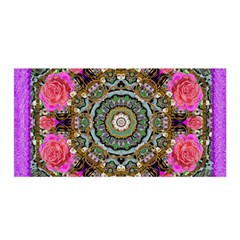 Roses In A Color Cascade Of Freedom And Peace Satin Wrap by pepitasart