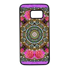 Roses In A Color Cascade Of Freedom And Peace Samsung Galaxy S7 Black Seamless Case by pepitasart