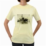 USS YMS-415 Pic Women s Yellow T-Shirt