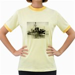 USS YMS-415 Pic Women s Fitted Ringer T-Shirt