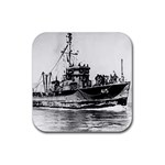 USS YMS-415 Pic Rubber Square Coaster (4 pack)