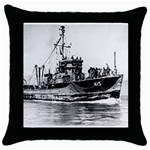 USS YMS-415 Pic Throw Pillow Case (Black)