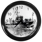 USS YMS-415 Pic Wall Clock (Black)