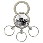 USS YMS-415 Pic 3-Ring Key Chain