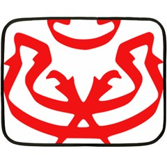 Malaysia Unmo Logo Double Sided Fleece Blanket (mini)  by abbeyz71