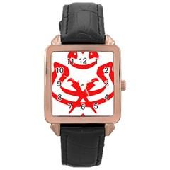 Malaysia Unmo Logo Rose Gold Leather Watch  by abbeyz71