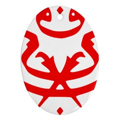 Malaysia Unmo Logo Oval Ornament (two Sides) by abbeyz71