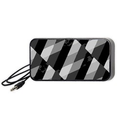 Black And White Grunge Striped Pattern Portable Speaker by dflcprints