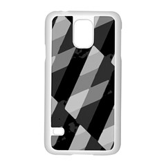 Black And White Grunge Striped Pattern Samsung Galaxy S5 Case (white) by dflcprints