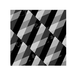 Black And White Grunge Striped Pattern Small Satin Scarf (square) by dflcprints