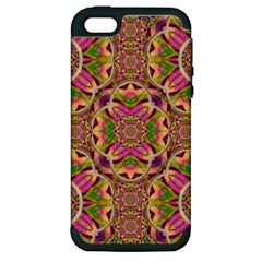 Jungle Flowers In Paradise  Lovely Chic Colors Apple Iphone 5 Hardshell Case (pc+silicone) by pepitasart