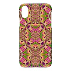 Jungle Flowers In Paradise  Lovely Chic Colors Apple Iphone X Hardshell Case by pepitasart