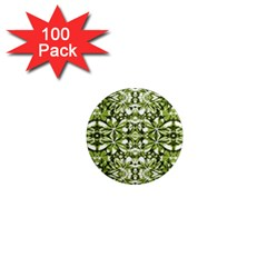 Stylized Nature Print Pattern 1  Mini Magnets (100 Pack)  by dflcprints