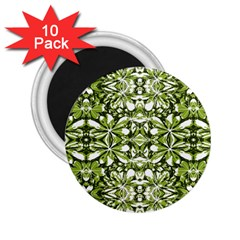 Stylized Nature Print Pattern 2 25  Magnets (10 Pack)  by dflcprints