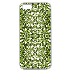 Stylized Nature Print Pattern Apple Seamless Iphone 5 Case (clear) by dflcprints