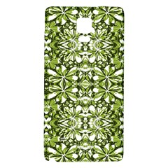 Stylized Nature Print Pattern Galaxy Note 4 Back Case by dflcprints