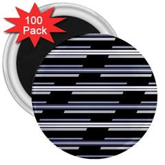 Skewed Stripes Pattern Design 3  Magnets (100 Pack) by dflcprints