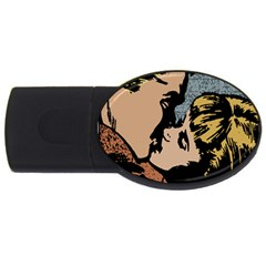 Kiss Kiss Usb Flash Drive Oval (4 Gb) by vintage2030