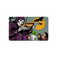 Playing Skeleton Magnet (name Card) by vintage2030