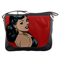 Bad Girl Messenger Bags by vintage2030