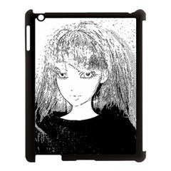 Girl Apple Ipad 3/4 Case (black)