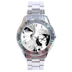 Twins Stainless Steel Analogue Watch by snowwhitegirl