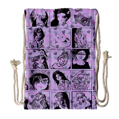 Lilac Yearbook 2 Drawstring Bag (large) by snowwhitegirl