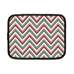 Chevron Blue Pink Netbook Case (small)  by snowwhitegirl