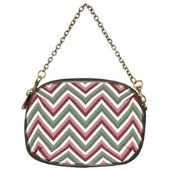 Chevron Blue Pink Chain Purses (one Side)  by snowwhitegirl