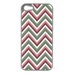 Chevron Blue Pink Apple Iphone 5 Case (silver) by snowwhitegirl