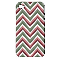 Chevron Blue Pink Apple Iphone 4/4s Hardshell Case (pc+silicone) by snowwhitegirl