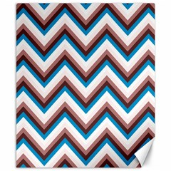 Zigzag Chevron Pattern Blue Magenta Canvas 8  X 10  by snowwhitegirl