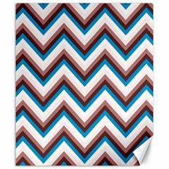 Zigzag Chevron Pattern Blue Magenta Canvas 20  X 24   by snowwhitegirl