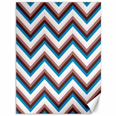 Zigzag Chevron Pattern Blue Magenta Canvas 36  X 48   by snowwhitegirl