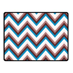 Zigzag Chevron Pattern Blue Magenta Fleece Blanket (small) by snowwhitegirl