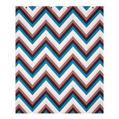 Zigzag Chevron Pattern Blue Magenta Shower Curtain 60  X 72  (medium)  by snowwhitegirl