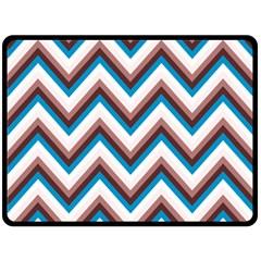 Zigzag Chevron Pattern Blue Magenta Double Sided Fleece Blanket (large)  by snowwhitegirl