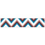 Zigzag Chevron Pattern Blue Magenta Small Flano Scarf Back