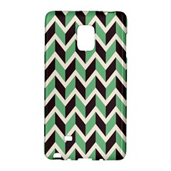 Zigzag Chevron Pattern Green Black Galaxy Note Edge by snowwhitegirl