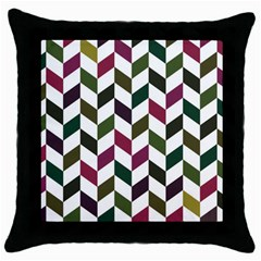Zigzag Chevron Pattern Green Purple Throw Pillow Case (black) by snowwhitegirl